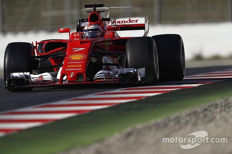 Raikkonen llega a la marca de 1m18s y Alonso se detiene dos veces