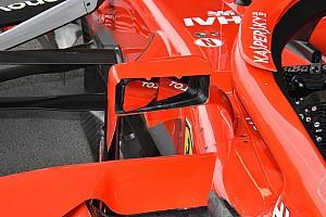 Формула 1 Аналитика Технический анализ: зачем Ferrari заострила зеркала заднего вида