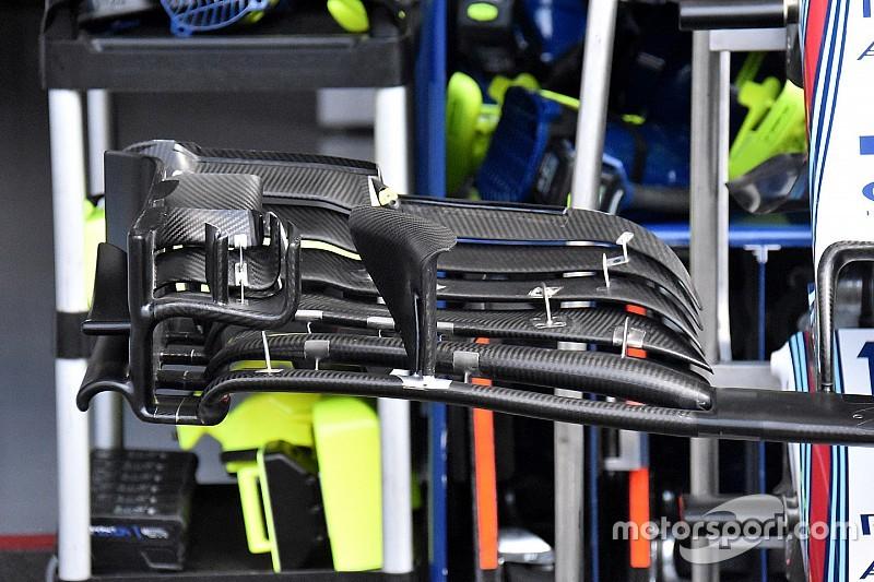 Williams estrena un nuevo diseño de alerón delantero