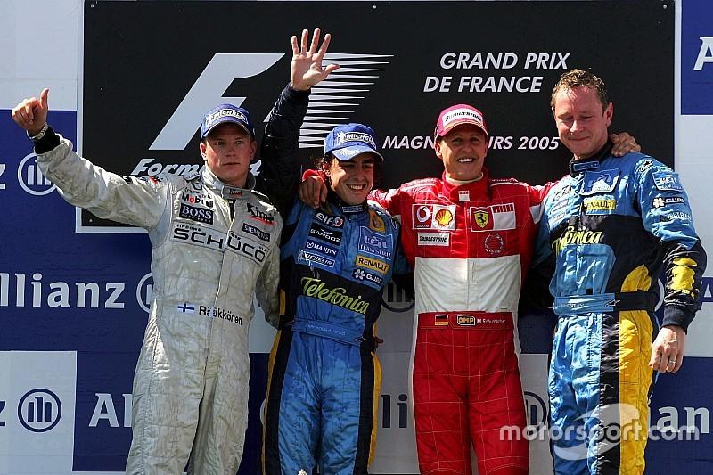 Los pilotos con más podios en F1: Raikkonen entró al club de los 100