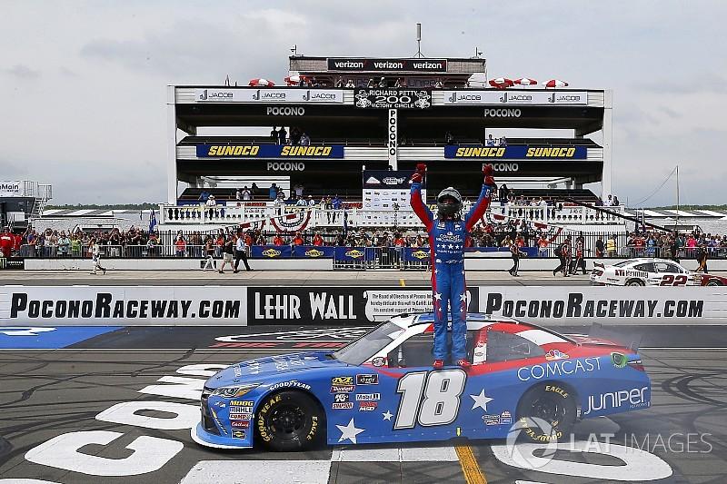 Kyle Busch wins Pocono Xfinity race, but fails post-race inspection
