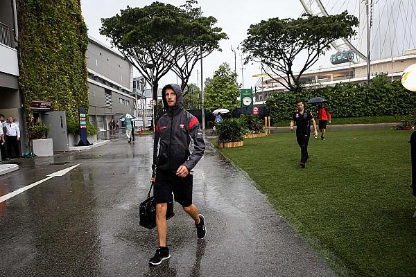 Grosjean no sabe si se podría correr con lluvia en Singapur