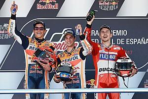 MotoGP Reporte de la carrera Pedrosa gana en Jerez con Márquez y Lorenzo en el podio