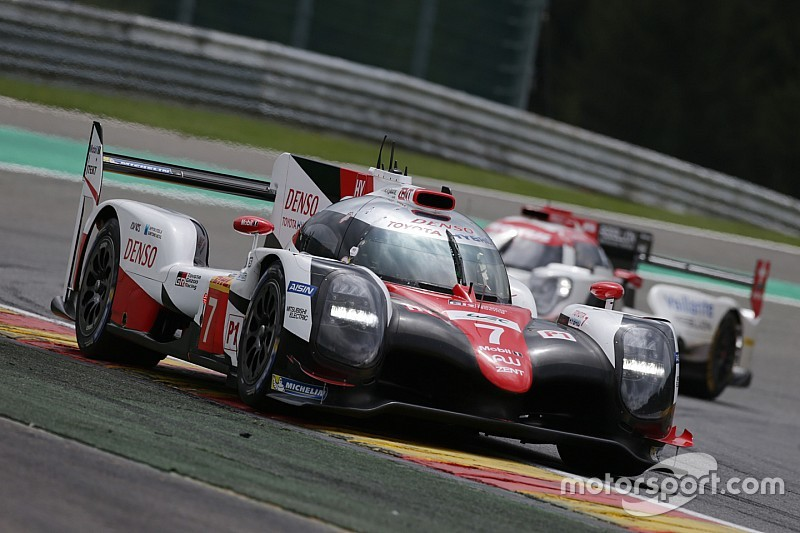 Toyota dominó el jueves en Spa-Francorchamps