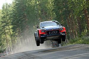 WRC Leg report Hyundai Motorsport drivers in fierce fight for fourth in Finland
