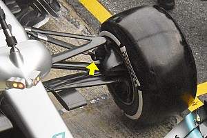 Tecnica Mercedes: Bottas ha provato di nuovo il bracket sul puntone anteriore