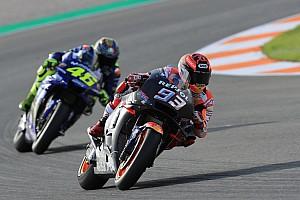 Márquez lidera a mitad de jornada; Lorenzo, sigue progresando