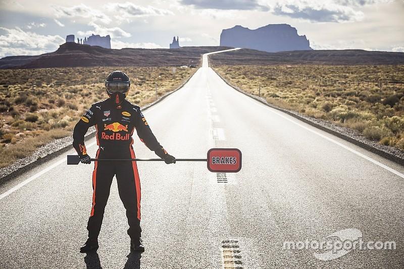 El alucinante viaje del Red Bull de Ricciardo por la Costa Oeste americana