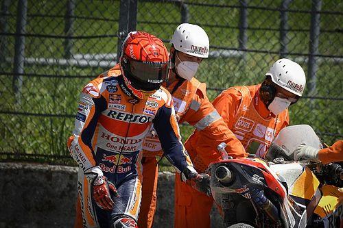 """Márquez: """"En cuanto intento pilotar de manera natural, me caigo"""""""