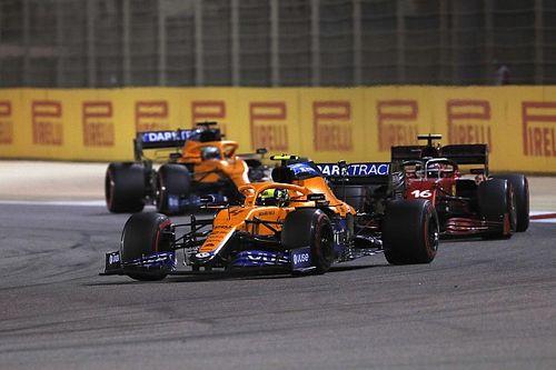 """نوريس كان """"يعاقب نفسه"""" بأسلوب قيادة الفورمولا واحد القديم"""