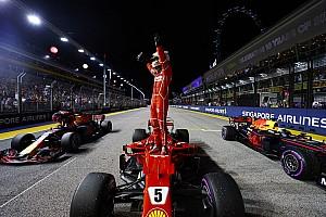 F1 Reporte de calificación Vettel saldrá desde la pole y Hamilton lo hará quinto en Singapur