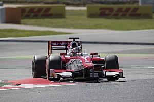 FIA F2 Race report Barcelona F2: Leclerc fends off Ghiotto to win again
