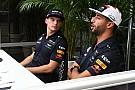 Ферстаппен и Риккардо прокатились на дрифт-картах по базе Red Bull