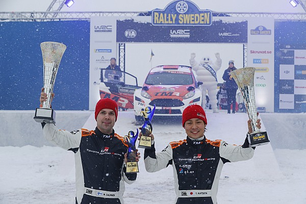 WRC 速報ニュース 勝田貴元、ラリー・スウェーデンでWRC2クラス初優勝!
