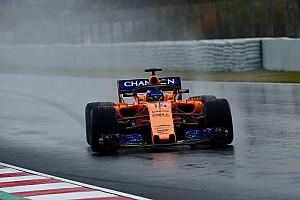 F1 テストレポート 雪と大雨が降り注いだテスト3日目。タイム計測はアロンソのみ
