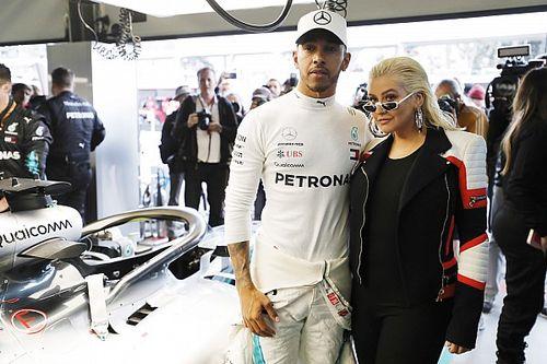Popstar-Karriere geht los: Lewis Hamilton singt mit Christina Aguilera