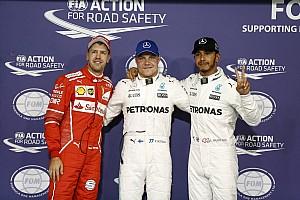 Формула 1 Результаты Гран При Абу-Даби: предварительная стартовая решетка