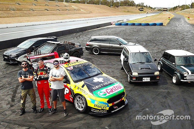 Video Supercars Star Mostert Drag Races Modified Street Cars
