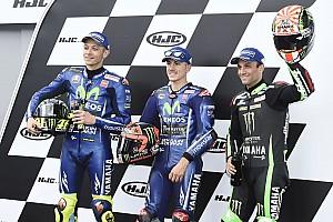 MotoGP Relato de classificação Viñales lidera trifeta da Yamaha em Le Mans; Rossi é 2º