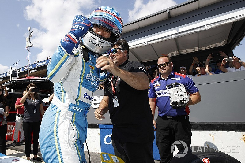 Pole-winner Sato admits he was nervous after Hunter-Reay shunt