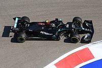 Боттас завершил пятницу Гран При России лидером, обе Ferrari в топ-10