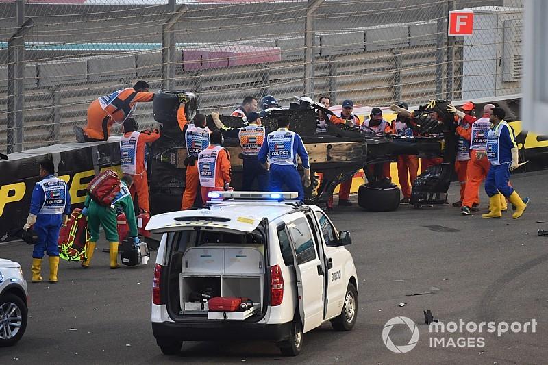 Diaporama - L'accident de Hülkenberg à Abu Dhabi