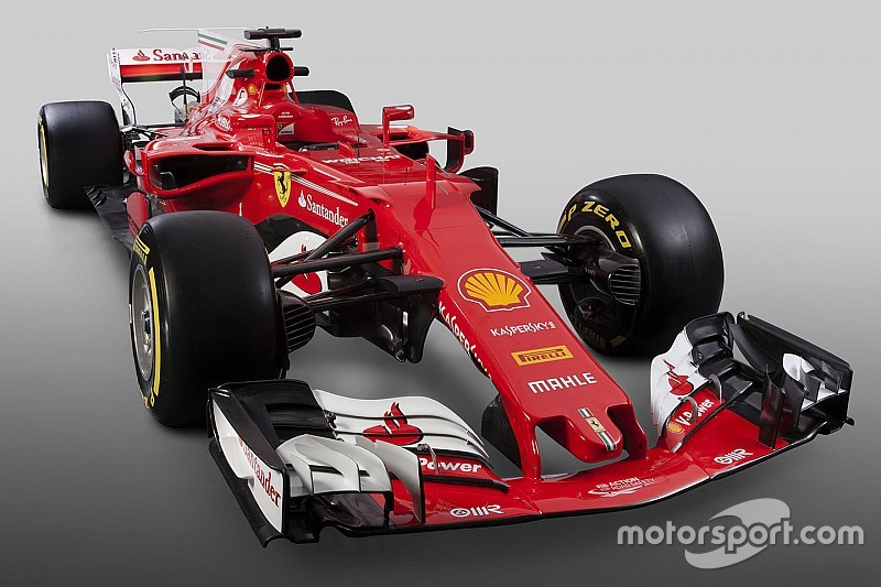 ferrari presents its 2017 f1 car the sf70h. Black Bedroom Furniture Sets. Home Design Ideas
