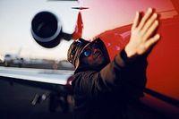 El antiguo jet de Hamilton está a la venta en Mónaco