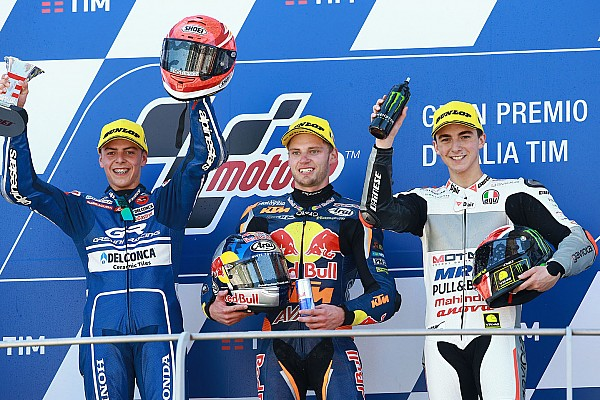 Moto3 İtalya: Yarışın ikincisi Di Giannantonio'ya şampanya engeli