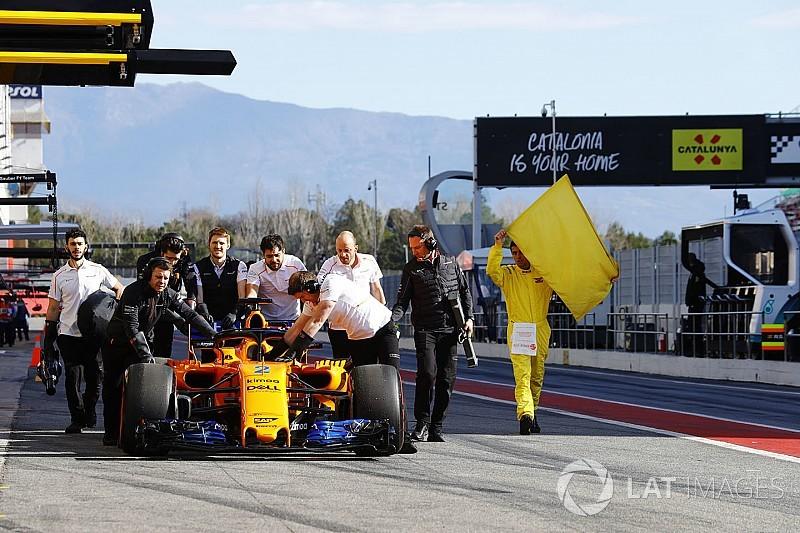 McLaren começa segunda semana de testes com problemas