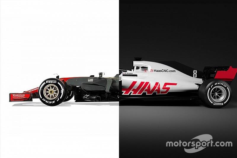 Comparación del viejo coche Haas contra el nuevo