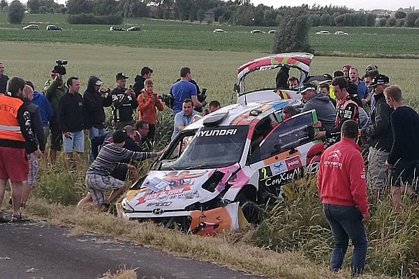 BRC Nieuws Video: Neuville crasht hard in Rally van Ieper