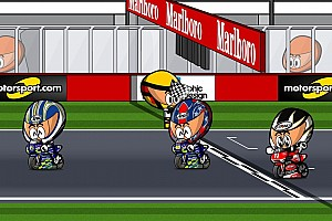 Vídeo: el histórico GP de Qatar 2004 de MotoGP, por 'Minibikers'