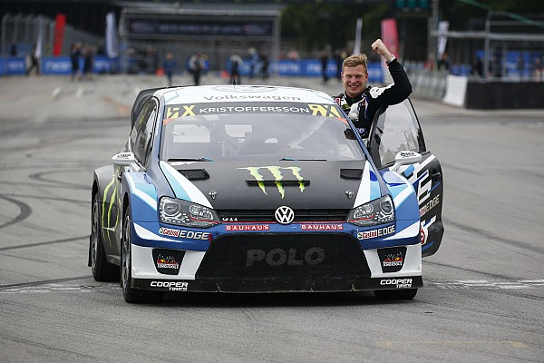 World Rallycross Latvia WRX: Kristoffersson secures title with fifth straight win