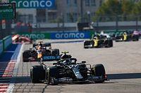 GP Rusia: una abeja impidió a Bottas pasar a Hamilton en la salida