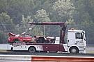 DTM Rast acaba en observación tras el accidente y no correrá el domingo