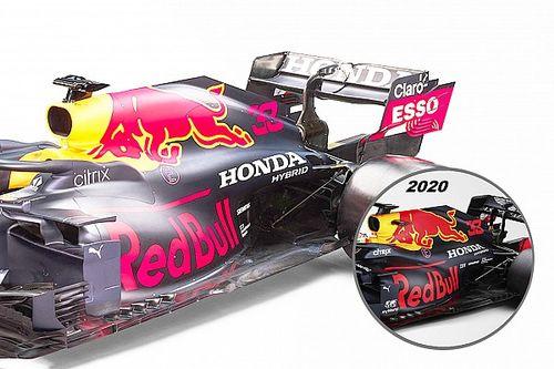 """F1新車""""雑感""""解説:レッドブルRB16B。60%が昨年型と同じ……でもリヤサスペンションに変更あり"""