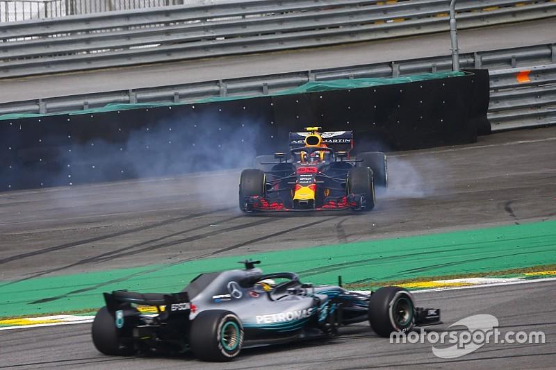 ハミルトン「フェルスタッペンとオコンの接触はレーシングインシデント」
