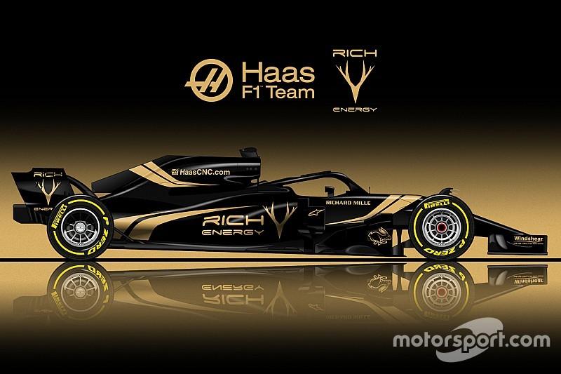 Designstudie: Die neuen Farben von Formel-1-Team Haas 2019
