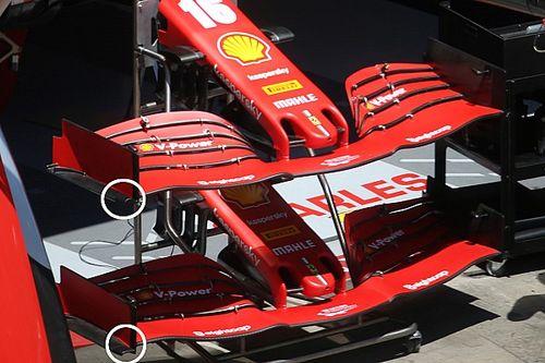Ferrari a un nouvel aileron avant en Autriche