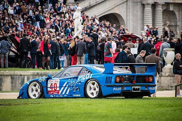 Retro Special feature Ferrari's stelen de show tijdens evenement Chantilly Arts and Elegance Richard Mille