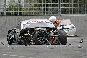 "DTM Breaking news Paffett ""pretty lucky"" to escape major injury in Norisring shunt"