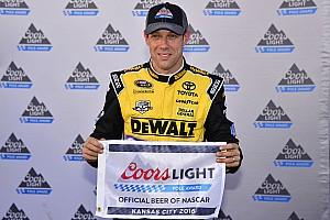 NASCAR Cup Qualifying report Kenseth leads Gibbs 1-2-3 in Kansas qualifying