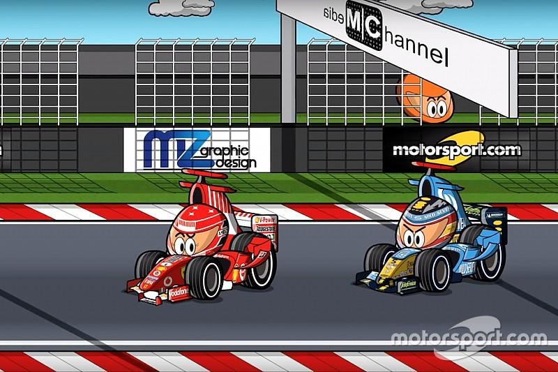 Vídeo: el GP de Japón 2005 de F1, por MiniDrivers