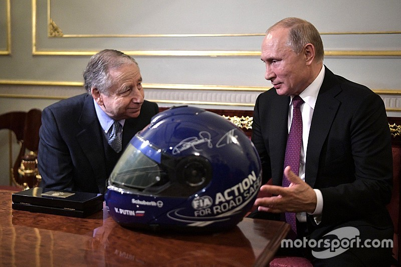 FIA chief Todt discusses Russian motorsport with President Putin