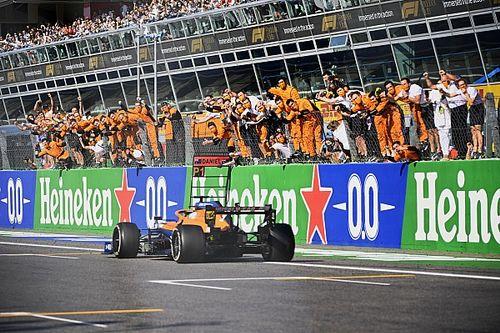 意大利大奖赛:里卡多强势带领迈凯伦1-2完赛,汉密尔顿与维斯塔潘相撞双退