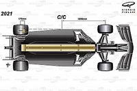 Análise técnica: Como a F1 está reduzindo o downforce dos carros para 2021