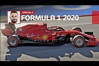 F1 2020, al volante della Ferrari di Leclerc (davanti uno schermo)