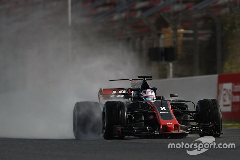 Грожан заметил прогресс Pirelli с дождевыми шинами