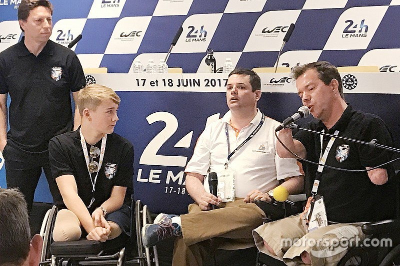 El primer cuadramputado en terminar Le Mans y Monger inician un nuevo proyecto